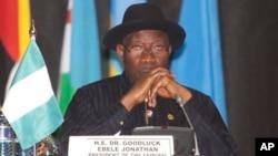 Shugaba Goodluck Jonathan na Najeriya.