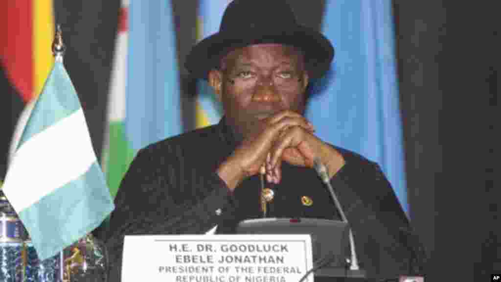 Rais wa Nigeria, Dr. Goodluck Jonathan, akihudhuria mkutano wa AU Nairobi, Kenya Sept. 2, 2014
