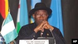 아프리카 나이지리아의 굿럭 조너선 대통령 (자료사진)