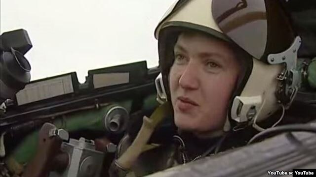 FILE - Nadiya Savchenko, Ukraine's only female military pilot, was captured in battle by Russia-backed separatists in 2014 and taken to Russia.