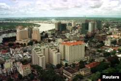 The central business district of Vietnam's southern economic hub Ho Chi Minh City.