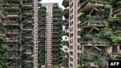 中國成都市一居民小區。