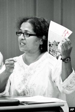 "Cristina Pinto, coordenadora da campanha ""Reviver Luanda"""