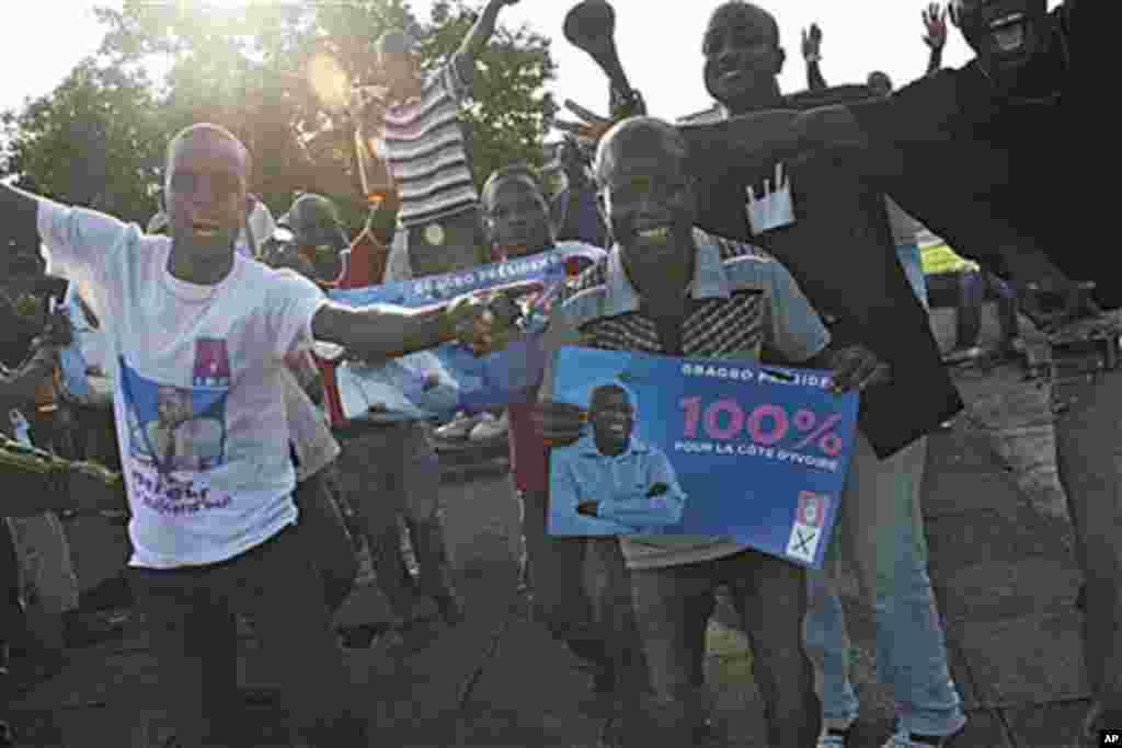 Des partisans de Laurent Gbagbo.