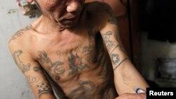 Một người nghiện ở Việt Nam.