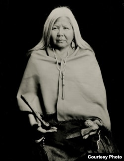 A 2014 ambrotype photograph of Joyce Belgarde, also known as Jt Shining Oneside, citizen of the Turtle Mountain Band of Chippewa of Métis heritage by North Dakota photographer Shane Balkowitsch.