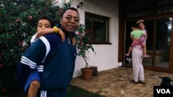 Mkhuseli Jack at home with his family in Port Elizabeth (courtesy M.Jack)
