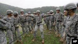 2015年7月,在南韓的美國陸軍參與東豆川市進行演練。