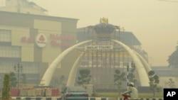 马来西亚南部城市遭受严重空气污染