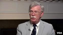 美國國家安全顧問博爾頓接受美國之音專訪談到香港問題。
