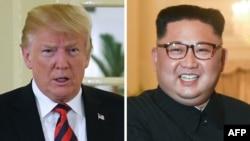 美国总统川普和朝鲜领导人金正恩