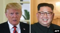 도널드 트럼프 미국 대통령과 김정은 북한 국무위원장.