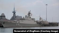 Tàu hộ vệ tên lửa 016 Quang Trung được trang bị hệ thống vũ khí với khả năng chống hạm, chống ngầm và phòng không mạnh mẽ, là chiến hạm uy lực nhất của Hải quân Việt Nam. (Ảnh chụp màn hình ZingNews)