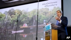 وزیر امور خارجه آمریکا در جاکارتا درباره تغییرات اقلیمی سخنرانی کرد - ۱۶ فوریه