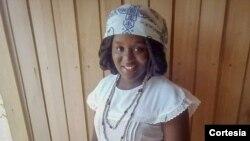Kailza Costa, estudante de relações internacionais na Universidade Lusíada de São Tomé e Príncipe