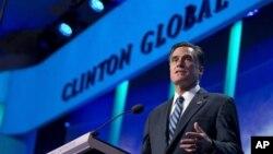 Митт Ромни выступает на конференции Глобальной инициативы Клинтона. Нью-Йорк, 25 сентября 2012 года