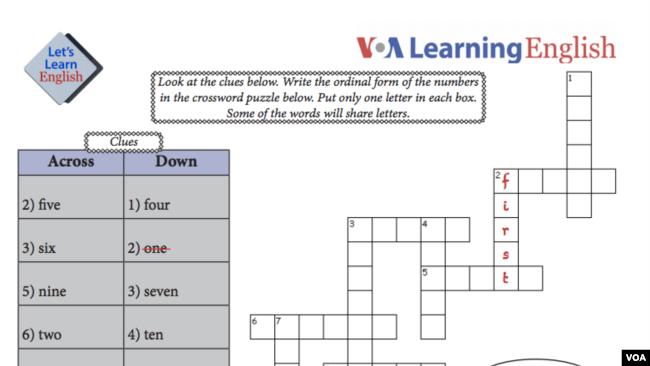 Lesson 18 Activity Sheet