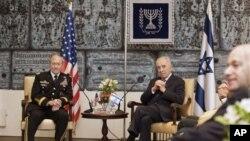 دیدار لوی درستیز عمومی قوای مسلح ایالات متحده با رئیس جمهور اسراییل