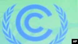 中國代表團團長解振華12月5號在第17屆聯合國氣候會議新聞發佈會上講話