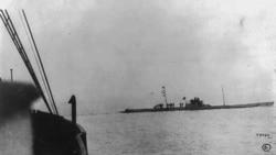 The German submarine U-36 near the ship Batavia V in April 1915