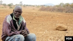 Village headman Kennedy Rusere in Buhera rural district, about 300 kilometers southeast of Harare. The food situation in his village is desperate. (Photo: VOA / Sebastian Mhofu)