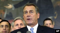 El presidente de la Cámara de Representantes, John Boehner, dijo que hay que apretarse el cinturón y poner la casa en orden.