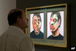 "Francis Bacon's ""Two Studies for a Self-Portrait"" is viewed during the spring auction preview at Sotheby's, in New York, March 29, 2016."