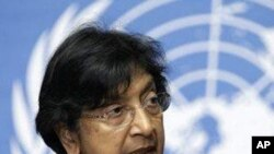The U.N. High Commissioner for Human Rights, Navi Pillay (FILE).