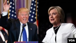 """Veliki pobednici na izborima u """"Super utorak"""" u SAD Hilari Klinton i Donald Tramp"""