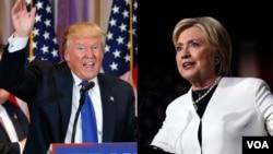 Warga hispanik di AS kesal dengan Donald Trump (kiri) dan akan memilih Hillary Clinton, jika kedua kandidat Capres bertarung dalam pilpres AS nanti (foto: dok).