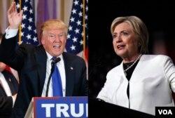 在超级星期二初选中获得大胜后,美国共和党总统参选人川普和民主党总统参选人希拉里·克林顿向支持者们发表讲话。