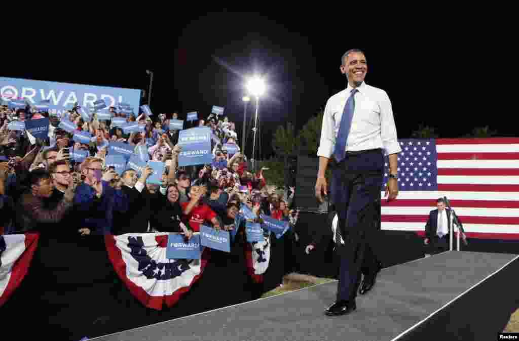 Le président Obama lors d'un meeting électoral à Las Vegas, dans le Nevada
