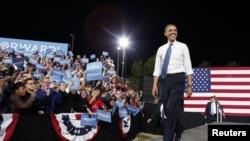 Rais Obama akiwa katika kampeni za urais huko Las Vegas, Nevada October 24, 2012.