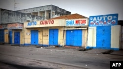 Stores remain closed early Jan. 22, 2015 in Kinshasa on the fourth day of violent protests against President Joseph Kabila.
