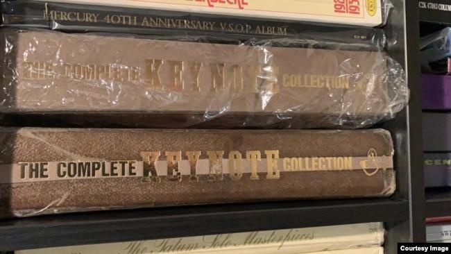 Complete Box Set Keynote Records yang dirilis ulang tahun 1986 (Courtesy: Koleksi Alfred Ticoalu).