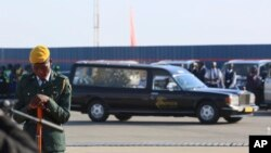 Robert Mugabe body arriving in Harare.