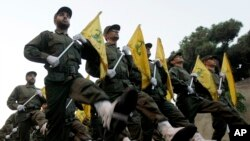 Hezbollah fighters.