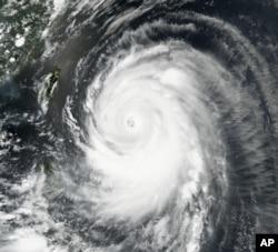 Typhoon Neoguri churns toward Okinawa and southern Japan on Tuesday, July 8, 2014.