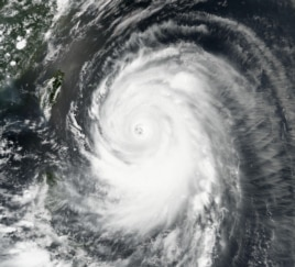 Typhoon Neoguri churns toward Okinawa and southern Japan on Tuesday, July 8, 2014.