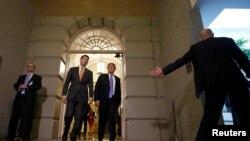 Predsednik SAD Donald Tramp sa predsedavajućim Predstavničkog doma Polom Rajanom na Kapitol hilu, 19. jun, 2018. REUTERS/Joshua Roberts