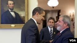 El presidente Barack Obama y el presidente Lula da Silva durante su último encuentro en la Casa Blanca en marzo pasado.