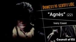 Scene from EU video on human trafficking.