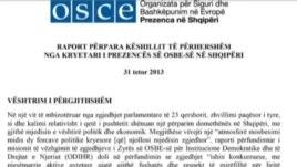 OSBE raport për zhvillimet në Shqipëri