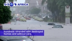 VOA60 Africa - Ivory Coast: A flood kills 18 people in Abidjan