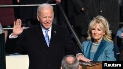 民主黨拜登2021年1月20日宣誓就任美國第46任總統