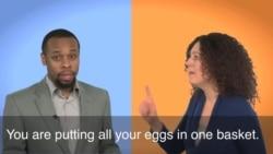 一分钟美语 Put All Your Eggs in One Basket