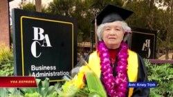 Cụ bà gốc Việt 75 tuổi tốt nghiệp đại học Mỹ