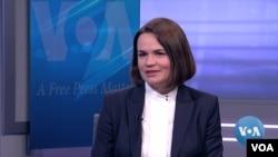 Светлана Тихановская в Вашингтоне