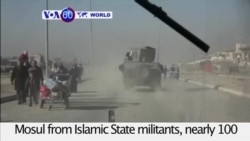 VOA60 World - Iraqi government takes control of eastern Mosul from Islamic State militants
