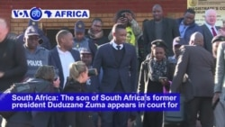 VOA60 Africa- The son of South Africa's former president Duduzane Zuma appears in court for the second time this week